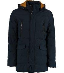 bos bright blue stepped long jacket 20301al20sb/290 navy