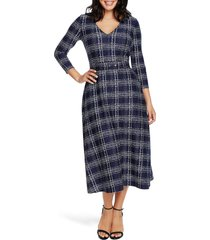 women's chaus brushstroke print midi dress