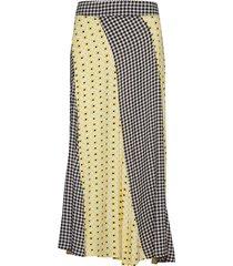 printed crepe rok knielengte multi/patroon ganni
