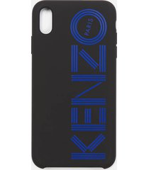 kenzo men's logo iphone x max case - blue