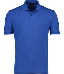 hugo boss poloshirt blauw big & tall b-piro