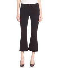 rag & bone women's cropped flared jeans - black coal - size 24 (0)