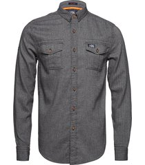 fjordmans work shirt skjorta casual grå superdry