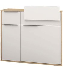 gabinete p/ banheiro c/ cuba jazz 80cm mb bosi branco/marrom - branco - dafiti