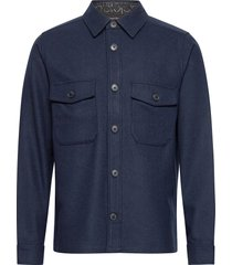 wool shirt jacket overshirts blauw calvin klein