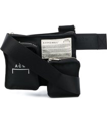 a-cold-wall* multiple-pocket waist bag - black
