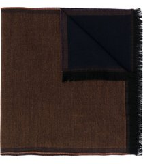 lady anne reversible fringed scarf - brown