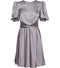elana korte jurk grijs custommade