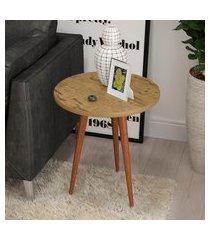 mesa de apoio retrô patrimar móveis legs redonda