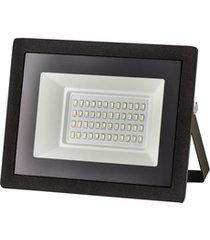 refletor led tech bivolt com luz verde 30w preto