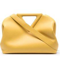bottega veneta the triangle tonal-design tote bag - yellow