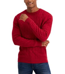club room men's cable-knit sweater, created for macy's