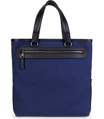textile & leather tote