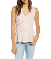 women's chelsea28 sleeveless button top, size xx-large - pink