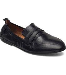 biastory leather loafer loafers låga skor svart bianco