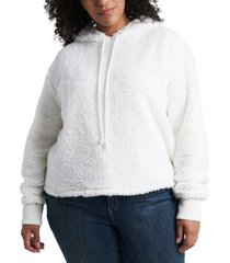1.state plus size teddy hoodie