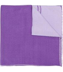bally tassel detailed scarf - purple