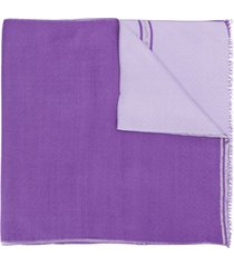 bally tassel detailed scarf - purple
