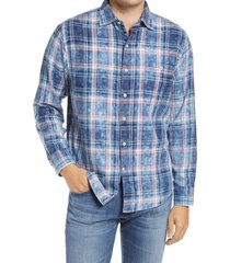 men's tommy bahama indigo beach men's plaid button-up shirt