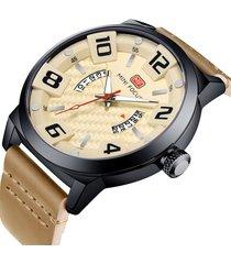 reloj análogo mf0149g-4 hombre beige
