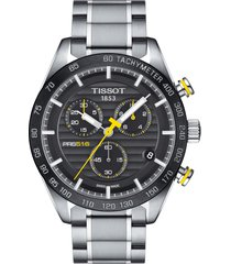 men's tissot prs516 chronograph bracelet watch, 42mm