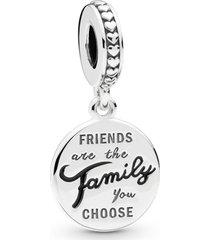 charm pendente amigos são como família - único