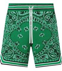 bandana b-ball shorts, tennis green