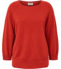 trui van 100% kasjmier met 7/8-raglanmouwen van include rood