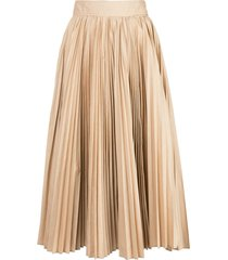 proenza schouler pleated poplin skirt - neutrals