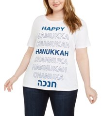 love tribe trendy plus size holiday t-shirt