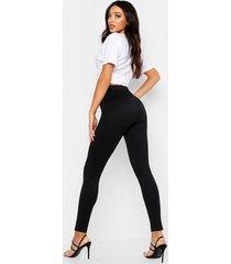 bum shaping leggings, black