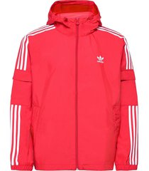 adicolor classics 3-stripes full-zip windbreaker tunn jacka röd adidas originals