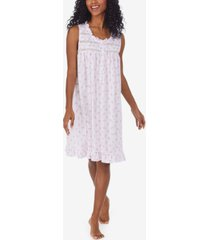 eileen west printed ruffled pointelle nightgown