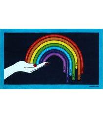 jonathan adler drip rainbow beach towel bedding
