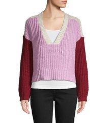 colorblock cotton sweater