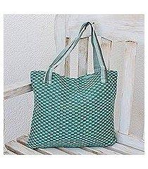 cotton tote bag, 'spring blooms' (guatemala)