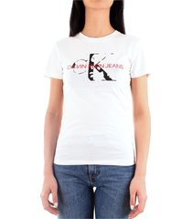 calvin klein j20j213035 t-shirt women white