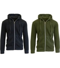 galaxy by harvic men's 2-packs zip-up fleece hoodies
