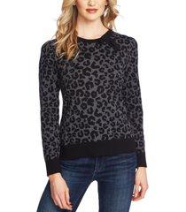 cece printed leopard sweater