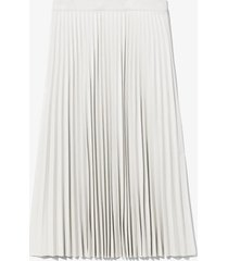 proenza schouler white label faux leather pleated skirt off white 0