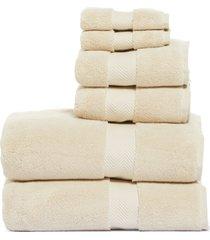 nordstrom 6-piece hydrocotton bath towel, hand towel & washcloth set, size one size - beige