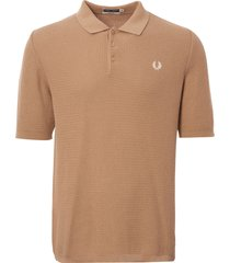 fred perry biscuit textured knit polo shirt k4313-877
