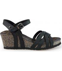 panama jack sandaal vera basics b1 napa grass negro black-schoenmaat 36