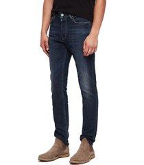 men's allsaints rex slim fit stretch straight leg jeans, size 36 - blue