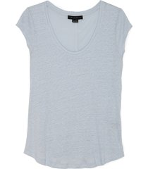 sanctuary women's alma scoop tee in color: seafoam size large from sole society