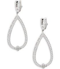 classic sterling silver open teardrop earrings