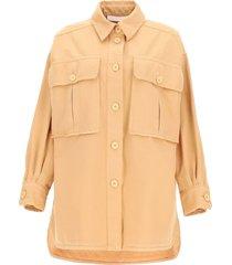 shirt-jacket with oversized pockets
