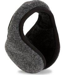 shearling-lined wool-blend earmuffs