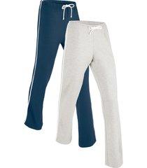 pantaloni in maglina elasticizzata (pacco da 2) livello 1 (blu) - bpc bonprix collection