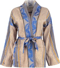 forte forte jacquard blazer with belt